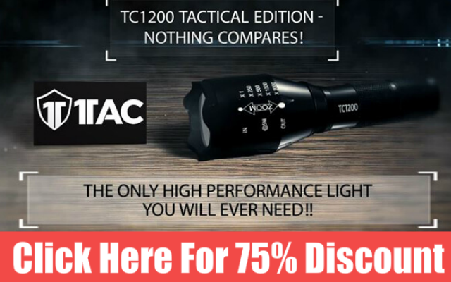 1TAC TC1200 Flashlight 75% Discount
