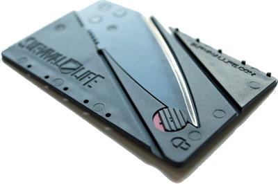 credit card knife design